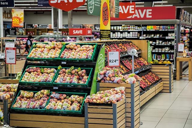スーパーの果物売り場