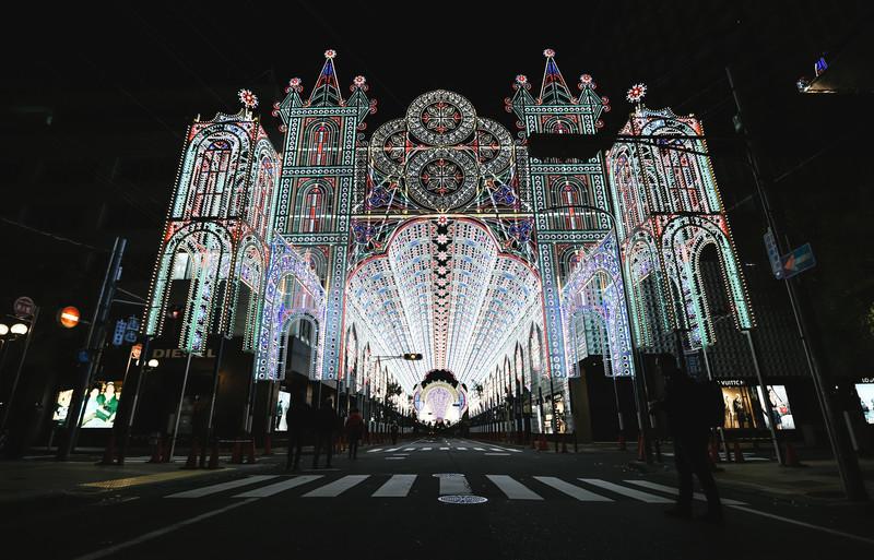 神戸ルミナリエのライトアップされた電飾