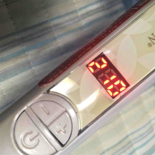 210℃に設定している写真